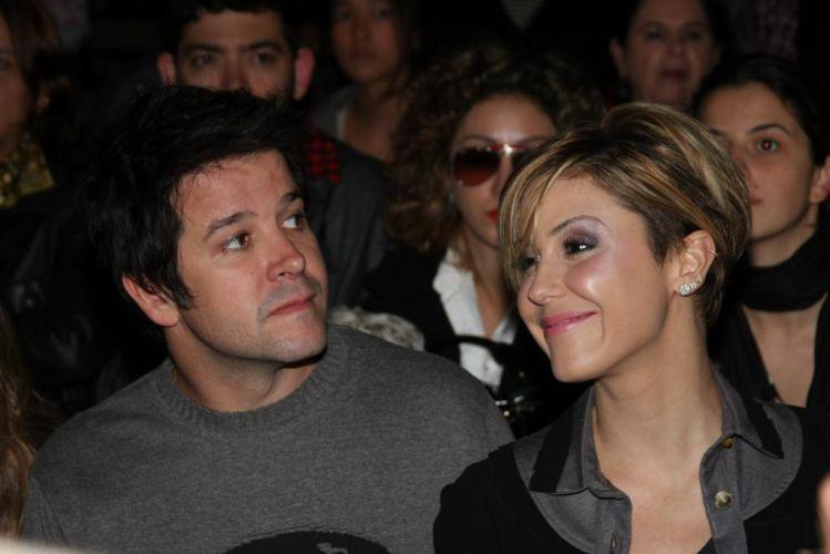 Murilo Benício e a atriz Guilhermina Guinle, que também faz parte do elenco de