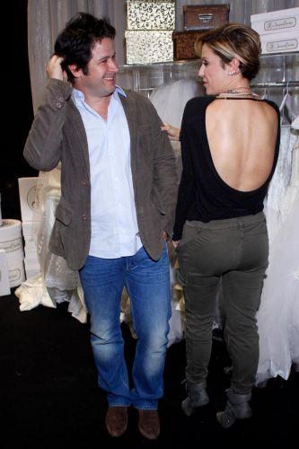 Murilo Benício e a atriz Guilhermina Guinle, durante a coletiva de imprensa de