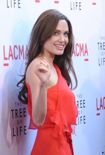 A atriz Angelina Jolie chega para a pré-estreia do filme
