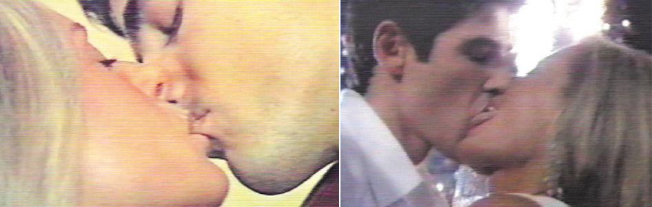 Vera Fischer, Reynaldo Gianecchini se beijam em uma das cenas de