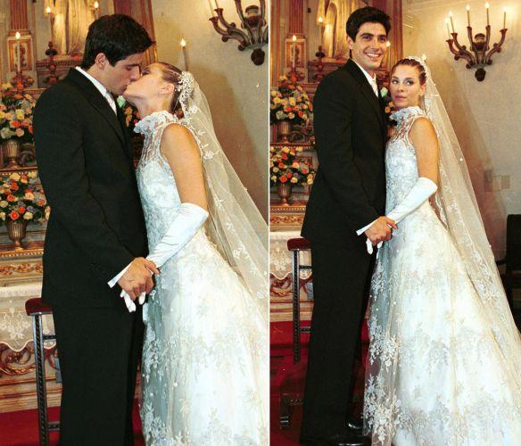 O casamento dos personagens Edu (Reynaldo Gianecchini) e Camila (Carolina Dieckmann) da novela