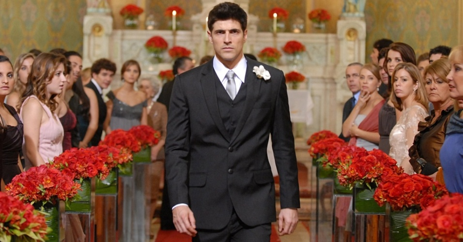 Reynaldo Gianecchini na cena em que Fred é abandonado no altar, em