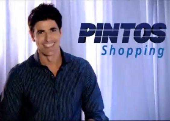 Gianecchini estrela comercial do Pintos Shopping, localizado em Teresina (PI), empresa da família Pintos. A peça publicitária usa o slogan