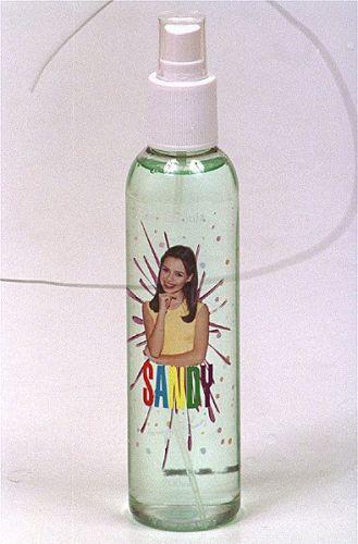 Foto do perfume da Sandy, cosmético para crianças da Linha Sandy (22/8/2000)