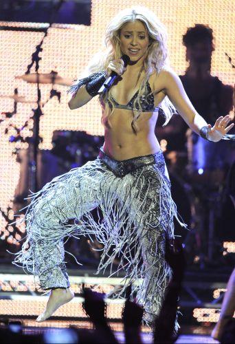 Shakira durante apresentação no MTV Europe Music Awards 2010, em Madri (7/11/2010)