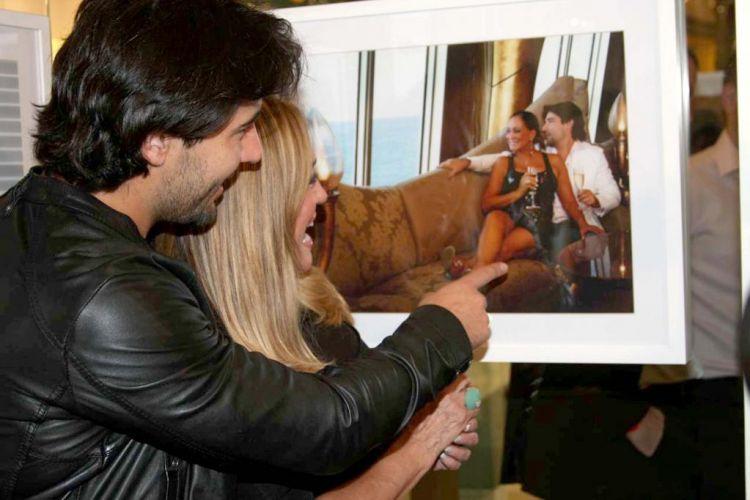 Sandro Pedroso e Susana Vieira conferem a exposição