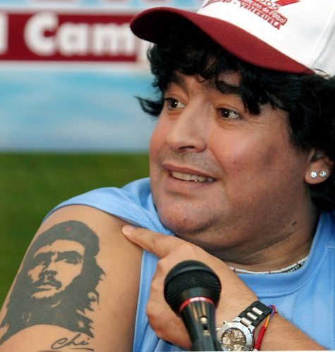 Maradona e Che Guevara