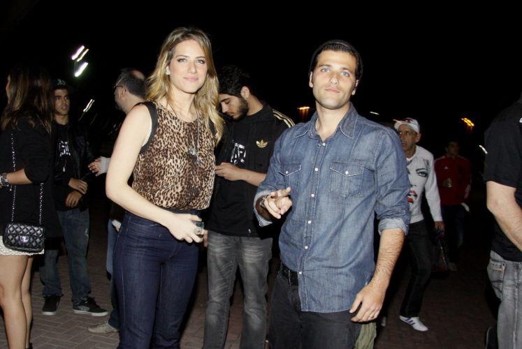 Gionnava Ewbank e Bruno Gagliasso é mais um casal que veio prestigiar o evento UFC Rio, em que atletas lutam na modalidade MMA - artes marciais mistas (27/8/11)