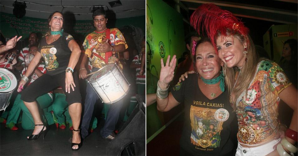 Susana Vieira e famosos no samba