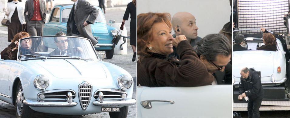 Sophia Loren em set de filmagem