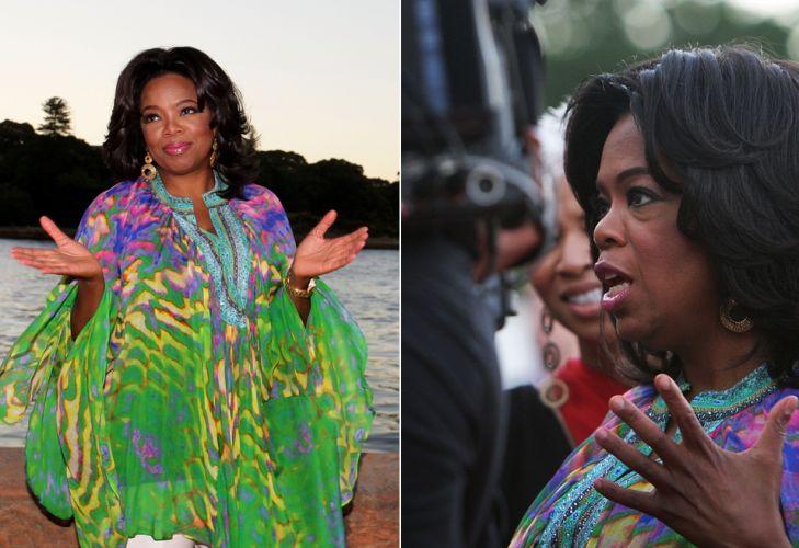 Oprah Winfrey visita o Jardim Botânico Real de Sydney, Austrália, no sábado (11). A apresentadora está no país para a gravação dos episódios comemorativos do 25º aniversário do programa