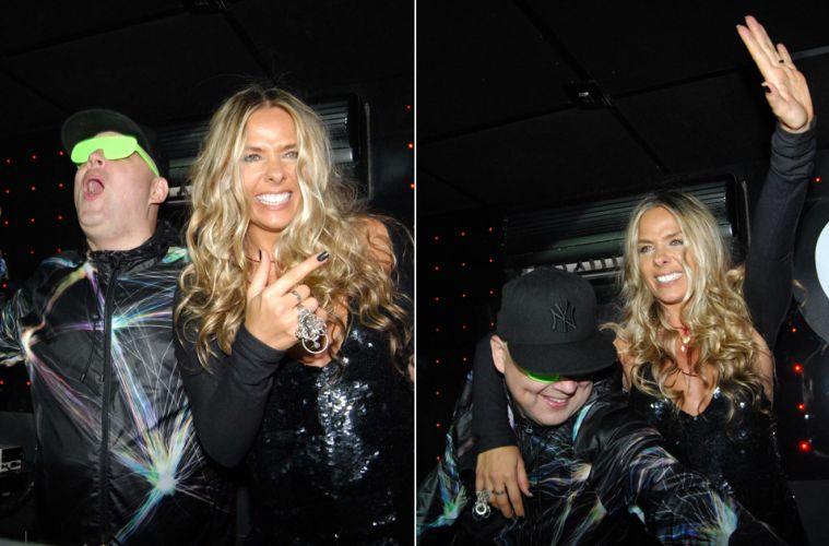 Adriane Galisteu prestigia festa capitaneada pelo DJ Zé Pedro em uma casa noturna de São Paulo, na noite de sábado (11/12)