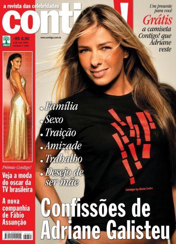 Adriane Galisteu foi capa da revista