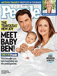 John Travolta, Kelly Preston e Benjamin