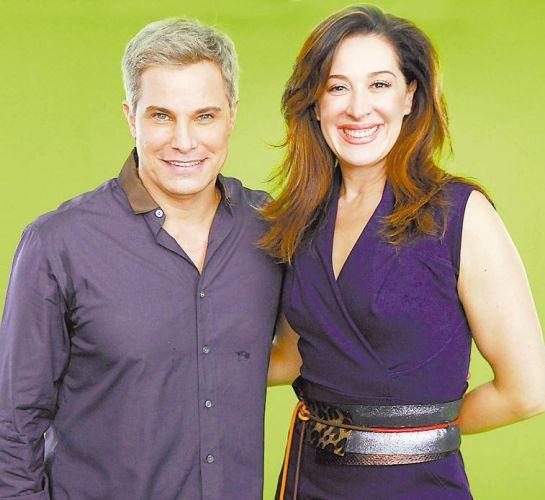 Claudia Raia e Edson Celulari em cena do vídeo comemorativo de 45 anos da Globo (25/3/10)