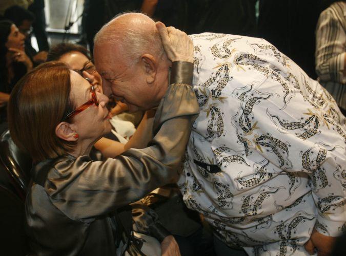 Fernanda Montenegro parabeniza o amigo Sérgio Mamberti, nomeado Presidente da Fundação Nacional de Artes (Funarte) no Rio de Janeiro (17/11/2008)