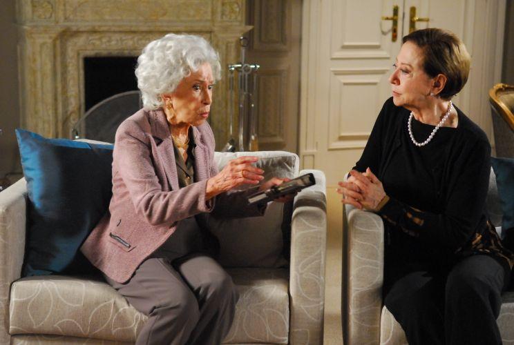 A atriz Cleyde Yáconis interpreta Brígida, sogra de Bete, vivida por Fernanda Montenegro em