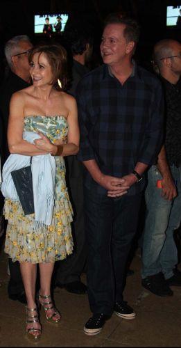 Zezé Polessa e Luís Fernando Gumarães na festa de lançamento da novela