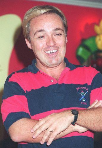 O apresentador de televisão Gugu Liberato em maio de 1994