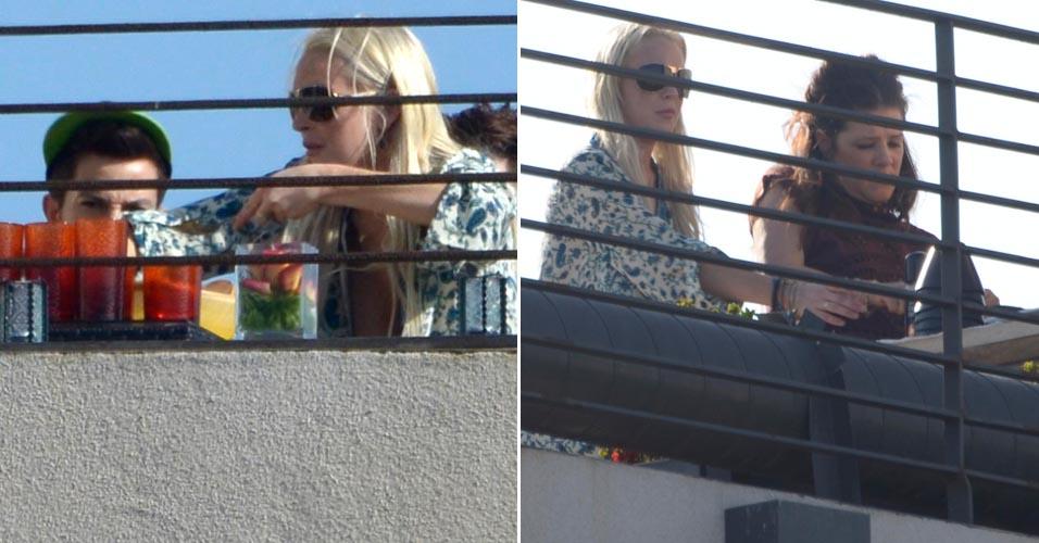 Em prisão domiciliar, Lindsay Lohan organiza churrasco e convida os amigos. A atriz condenada no dia 11 de maio deve permanecer dentro de casa durante 35 dias (12/6)
