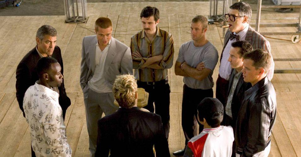 Matt Damon com o elenco de