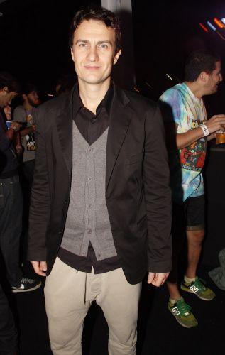 Gabriel Braga Nunes na área vip do Planeta Terra 2011 (05/11/2011)