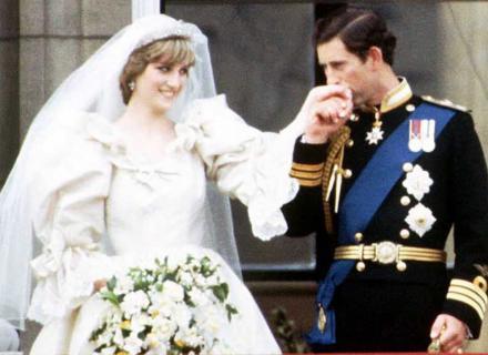 Charles e Diana após a cerimônia de casamento (29/7/1981)
