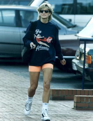 Para ir à ginástica, Diana usava roupas parecidas para não chamar a atenção (1993)