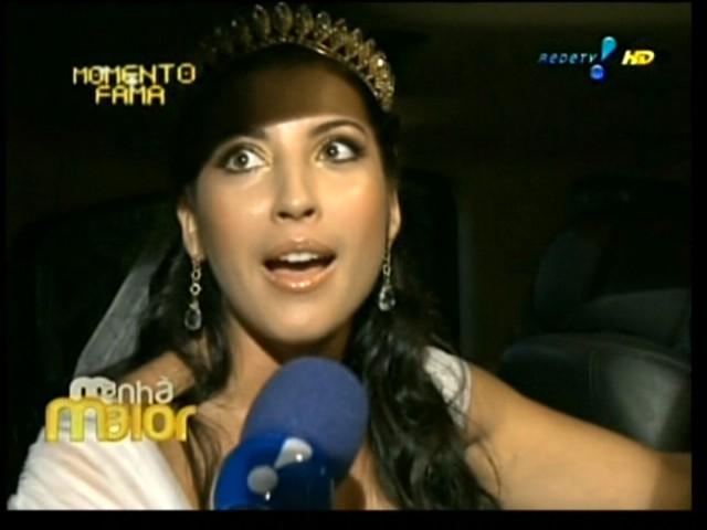 A ex-bbb Priscila Pires chega com duas horas de atraso ao seu casamento com o empresário Bruno Andrade no Rio de Janeiro (28/5/2011). Em entrevista à RedeTV!, a ex-bbb disse antes da cerimônia que estava muito nervosa