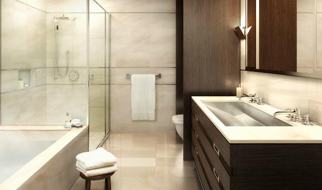 Ricky Martin aluga apartamento por US$ 32 mil em Nova York; veja fotos do con -> Banheiro Pequeno Alugado