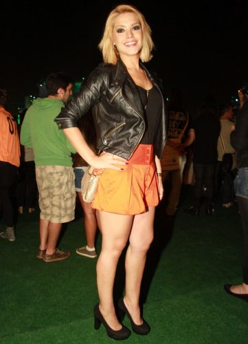 A atriz Thaís Fersoza assiste a shows do Rock In Rio na área VIP do evento (30/9/11)