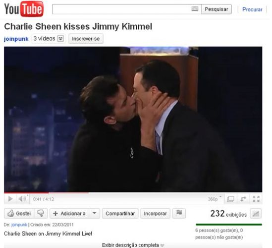 Charlie Sheen e Jimmy Kimmel