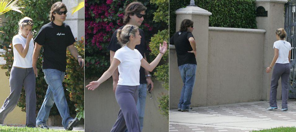 Shakira e Antonio de la Rua discutem durante passeio pelas ruas de Miami (18/3/2005)