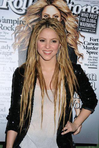 Shakira na festa de lançamento de sua capa na revista Rolling Stone, e do novo álbum