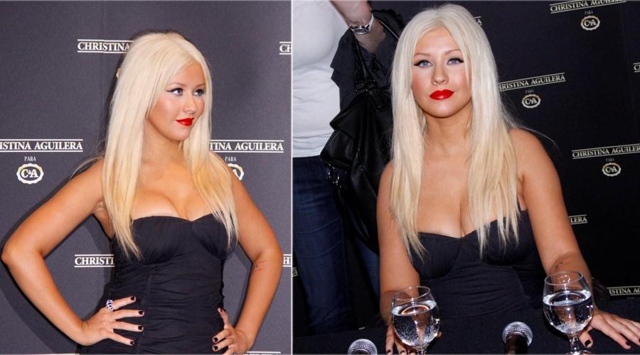 A cantora Christina Aguilera divulga, no SPFW Inverno 2011, uma coleção de roupas com sua assinatura (1/2/2011) Acompanhe a cobertura completa do SPFW Inverno 2011