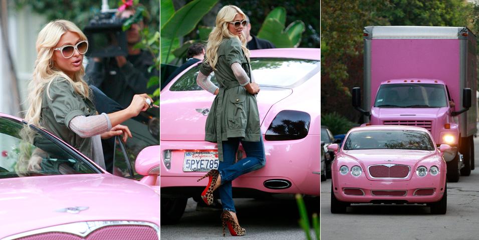 Paris Hilton vai à casa de Nicole Richie em Los Angeles para trabalhar em seu novo reality show (18/11/2010)