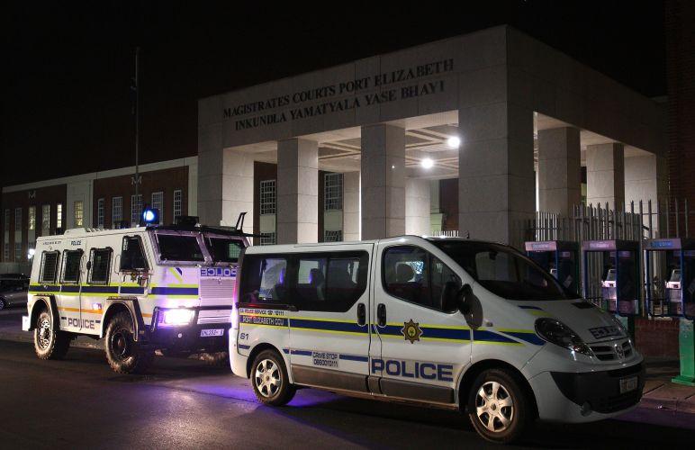 Vista geral do tribunal em Porto Elizabeth, África do Sul, para onde Paris Hilton foi levada após ser pega com maconha, durante a Copa do Mundo (2/7/2010)