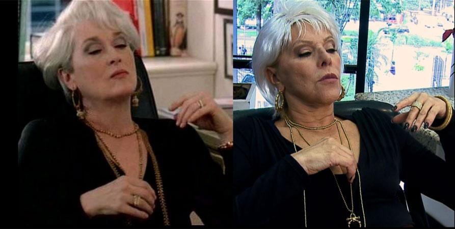 A cantora Vanusa (dir.) vira Meryl Streep no filme